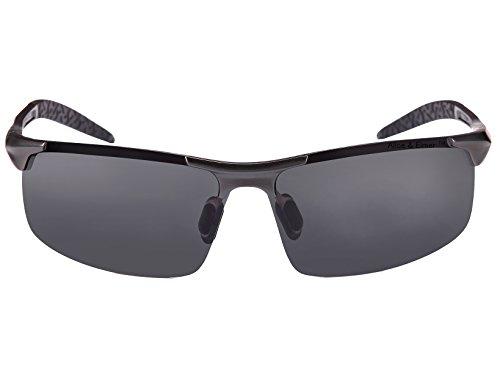 marco hombre ultraligero Alice Gris con de Elmer Marco marrón Gafas Lente polarizadas deportivas Negro marrón sol lente para amp; 878qwnvx1