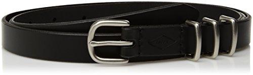 Fossil Women's Triple Keeper Skinny Leather Belt Accessory, -black, S