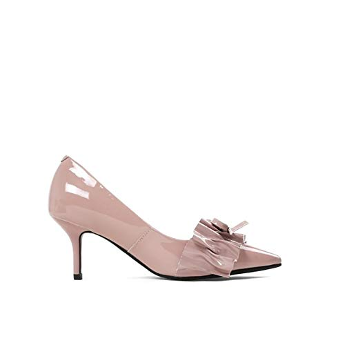 Women's Spring Nude Nude Shoes ZHZNVX Nappa Pointed Leather amp; Heel Toe Heels Fall Black Basic Pump Stiletto dTHCqFH