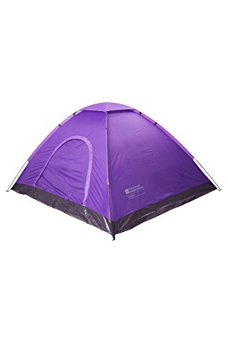Mountain Warehouse Festival Fun 4 Person Tent - Water Resistant Family Camping Tent Purple