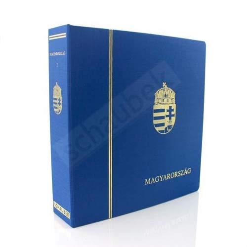 Schaubek Album Ungarn 1980-1989 Standard im geprägten Leinen-Schraubbinder blau, Band VI, mit Schutzkassette KOA-822/06N