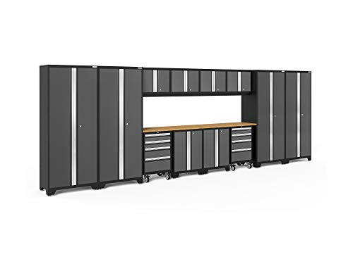 NewAge Products Bold 3.0 Gray 14 Piece Set, Garage Cabinets, 50416 - Storage System Set Cabinet