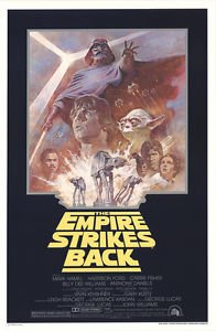 EMPIRE STRIKES BACK R81 (1981) Original Authentic Movie Poster - 27x41 One Sheet - Single-Sided - FOLDED - Mark Hamill - Harrison Ford - Carrie Fisher - David Prowse