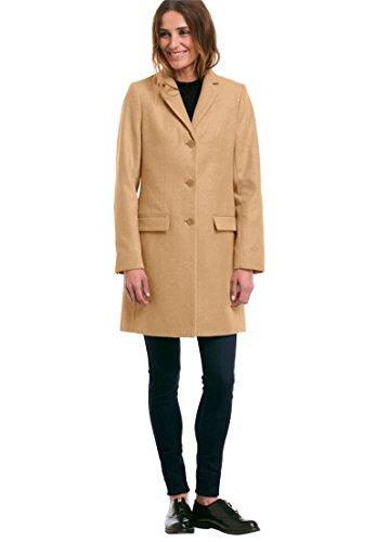 Classic Wool Blazer - Ellos Women's Plus Size Long Wool Blend Blazer Classic Camel,24