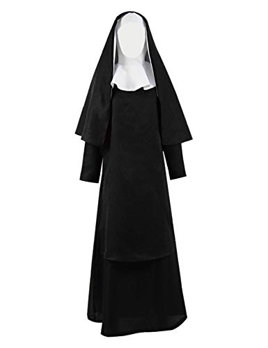 YANGGO Nun Halloween Costume for Men Priest Costume Adult (XL, Women Style-B) ()