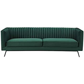 Manhattan Comfort 97B3HL2 Vandam Modern Ribbed Stitched Tufted Velvet Living Room Sofa, 82.28