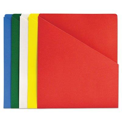 Slash-View Pocket Organizers, Letter, Assorted Colors, (Slash View Pocket Organizers)