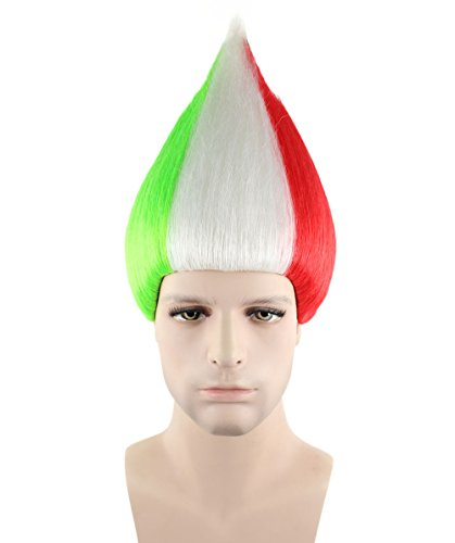 Flag Troll Styles Wig Series - Italy National Flag Unisex (Adults) HM-130/HW-1351