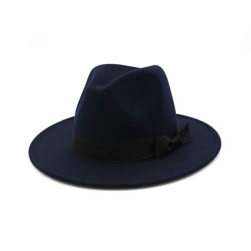 Hat for Women Men Autumn Winter Wide Brim Brown Jazz Hat Flat Brim Felt Cap Trilby Wool Bowler Hats Jewish Hat (Nike Beanie Wool)