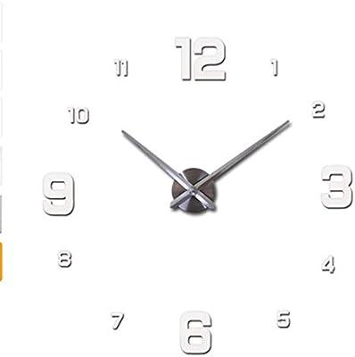 Amazon.com: HAVIPRO 2019 Digital Big Mirror Wall Clock Modern Design Living Room Quartz Metal DIY Clocks Home Decoration: Home & Kitchen