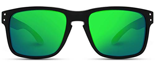 WearMe Pro - Premium Polarized Mirror Lens Classic Square Style Sunglasses ()