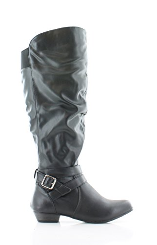 Fergalicious by Fergie Womens Lara Slouch Boot Wide Calf Black XN75u4ghW
