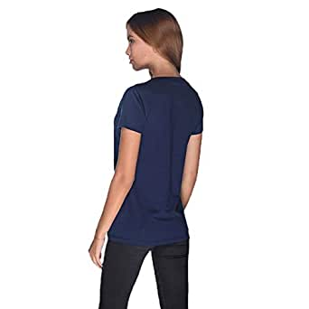 Creo Bikers Born To Ride T-Shirt For Women - S, Navy Blue