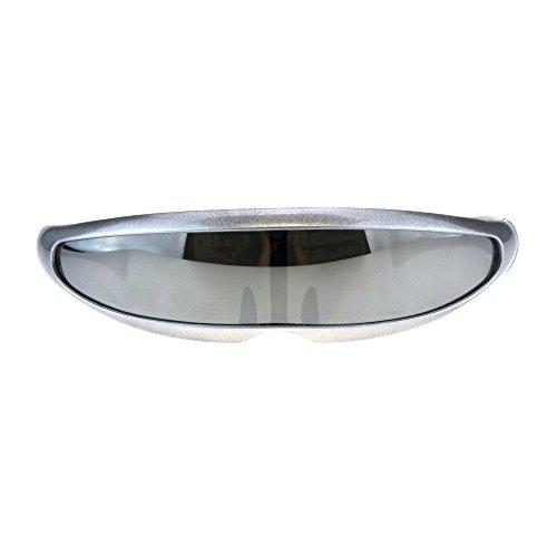 (Mirror Lens Monolens Cyclops Robotic Futuristic Sunglasses (Silver Silver Mirror,)