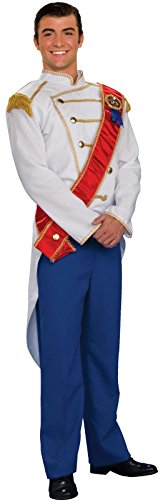 Forum Fairy Tales Fashions Prince Charming Costume, Blue/White, Standard