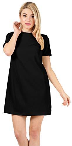 Black Dresses for Women Black Mini Dress Black Cocktail Dress Short Black Dress Black Shift Dress (Size XX-Large US 10-12, Black)