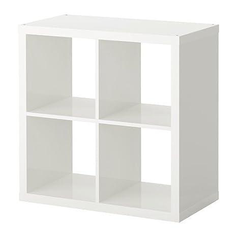 Ikea KALLAX estantería de Pared Blanco Brillante; (77 x 77 cm); Compatible con EXPEDIT