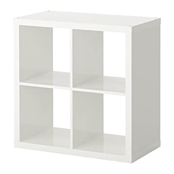 Ikea KALLAX estantería de Pared Blanco Brillante; (77 x 77 cm); Compatible con EXPEDIT: Amazon.es: Hogar