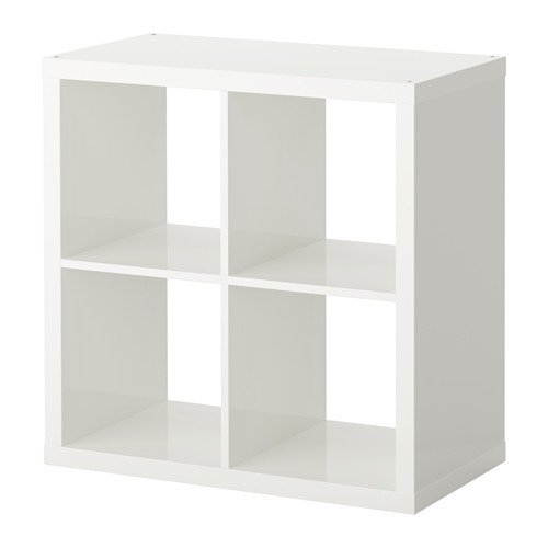Gloss Box High Storage (IKEA KALLAX Shelving unit - Bookcase,Perfect For Baskets or Boxes-77x77 cm (High-Gloss White) by KALLAX)