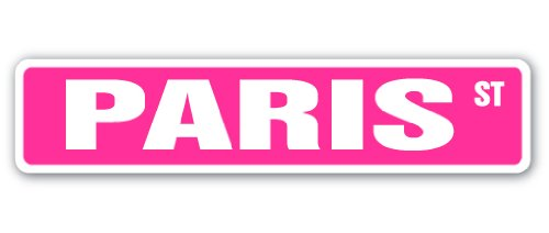 Amazon PARIS Street Sign Name Kids Childrens Room Door Bedroom Girls Boys Gift Toys Games