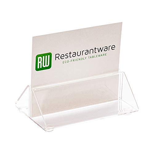 Restaurantware RWP0406C Tek Clear Acrylic Place Card Holder and Menu Stand 3 2 1/2