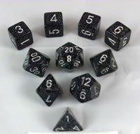 Ninja Elemental and Speckled Dice Set 10pc Set in (Dice Set 10pc Set In Tube)