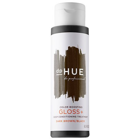Color Conditioning Gloss (Color Boosting Gloss + Deep Conditioning Treatment Dark Brown/Black 6.5 oz)