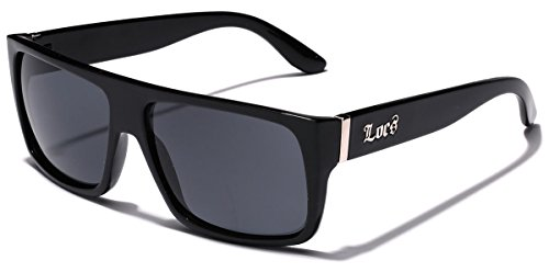 Small Flat Top Wayfarer Style Locs Sunglasses - - Sunglasses Mens Locs