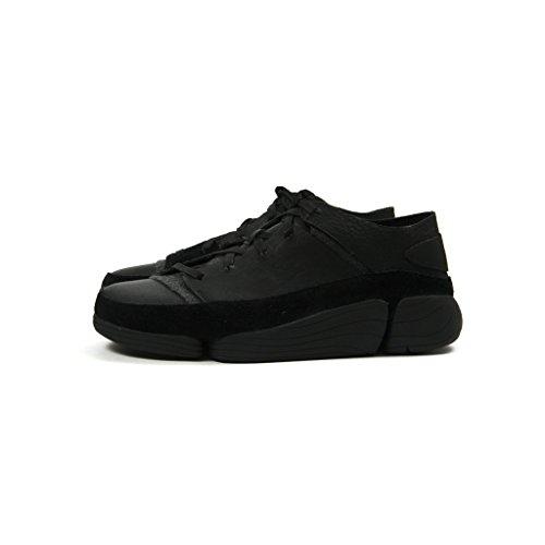 Clarks Herren Schwarz Chaussures De Sport En Cuir Noir Trigenic Evo