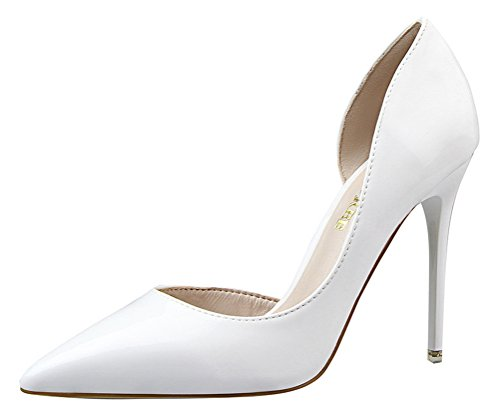 T&Mates Womens Dressy Versatile D'orsay Stiletto High Heels Closed Pointed Toe Pumps Shoes (6 B(M) - Costume Cheap Bad Breaking