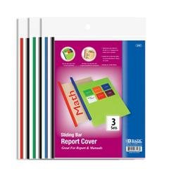DDI - BAZIC Clear Front Report Covers w/ Sliding Bar (1 pack of 144 items)