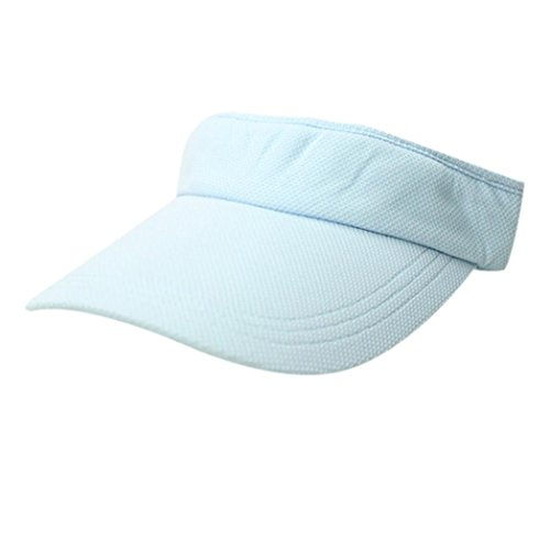 Sun Hat Unisex MazarShop Premium Plain Butterfly Sequined Visor Baseball Golf Fishing Tennis Cap Adjustable (Sky Blue) (Big Star Visor)