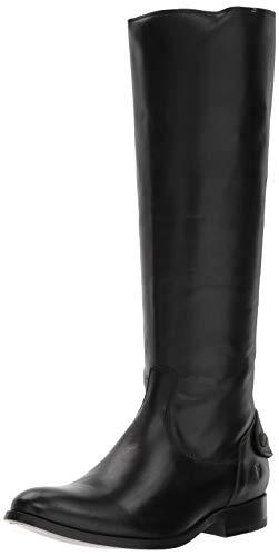 High Button Boots - FRYE Women's Melissa Button Back Zip Boot, Black, 7.5 M US