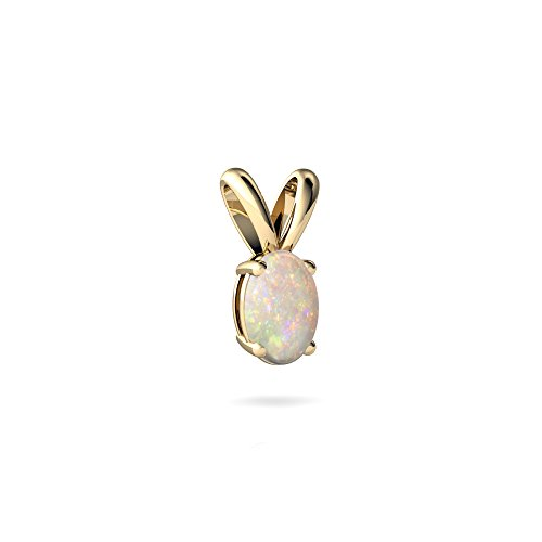 14kt Yellow Gold Opal 6x4mm Oval Solitaire ()
