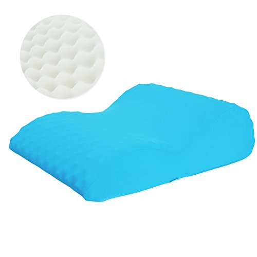 TOPARCHERY Orthopedic Elevated Leg Pillow Bed Wedge Massage Memory Foam Knee Pillow Improved Circulation Sciatic Nerve Pain Relief with Washable Cover