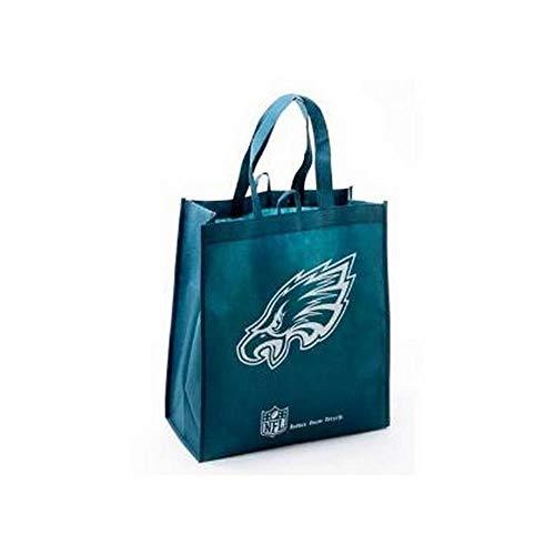 Philadelphia Eagles Printed Non-Woven Polypropylene Reusable Grocery Tote Bag ()