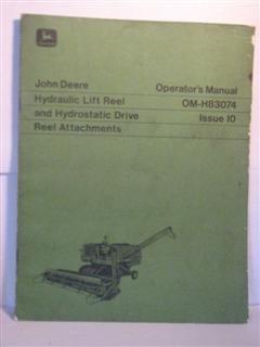 John Deere Hydraulic lift reel and hydrostatic drive reel attachments operators manual by John -