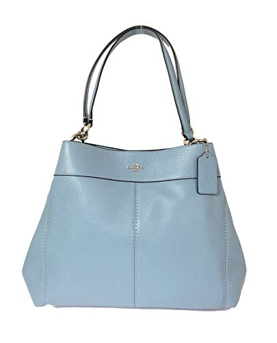 Coach Pebbled Leather Lexy Shoulder Bag Handbag (SV/Cornflower) ()