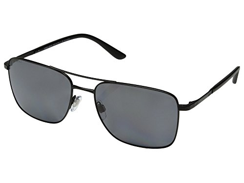 Giorgio Armani  Men's 0AR6065 Matte Black/Polarized Grey One - Oval Men Face
