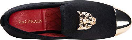 Pictures of JOUSEN Men's Velvet Loafers Gold Buckle velvet men loafer slip on 4