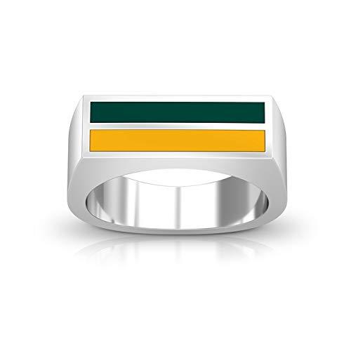 (Bixler Oakland Athletics - Enamel Ring in Green and Yellow)
