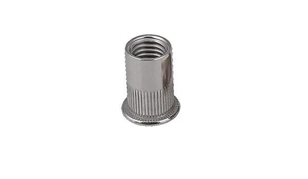 no logo Hex Nuts 166pcs//set Mixed Carbon Steel Rivet Nut M3 M4 M5 M6 M8 M10 M12 Nut Zinc Plated Flat Head Threaded Insert Nut Kit Machine Screw Nuts