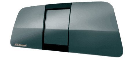 CRL All Glass Look Tri-Vent Three Panel Truck Slider with Clear Glass for 2002-2003 Lincoln Truck by CRL