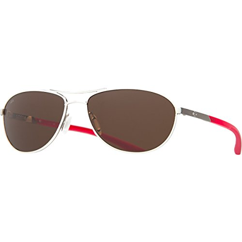 Costa del Mar Unisex-Adult Kc Polarized Aviator Sunglasses Palladium with Crystal Red Temples Copper
