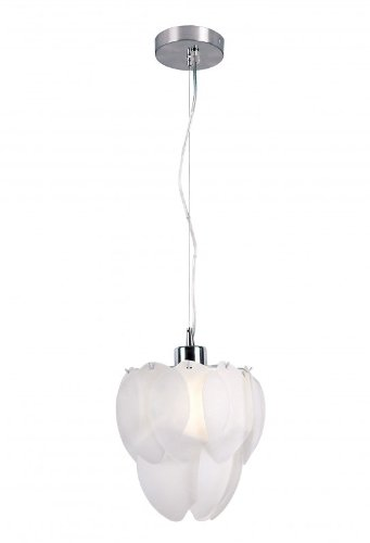 Contemporary Artichoke Pendant in Polished Chrome