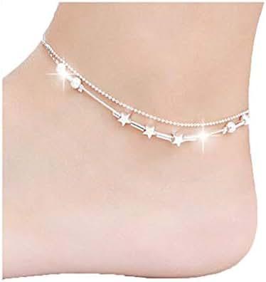DOINSHOP Little Star Women Foot Jewelry Barefoot Sandal Beach Chain Ankle Bracelet