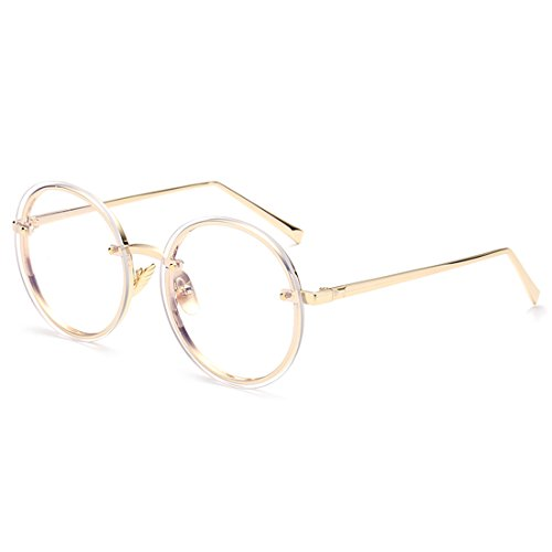 Vogue Oversized Flat Lens Glasses for Women and Men with - Yellow Lensed Glasses