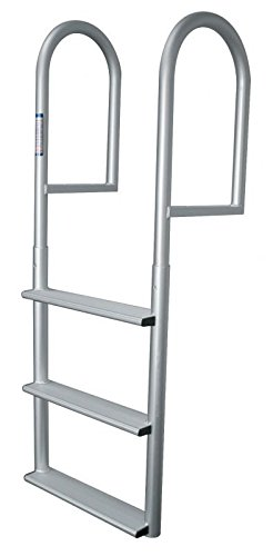 3 Step Stationary Ladder, Aluminum - Jif Marine (3 Step Dock Ladder)
