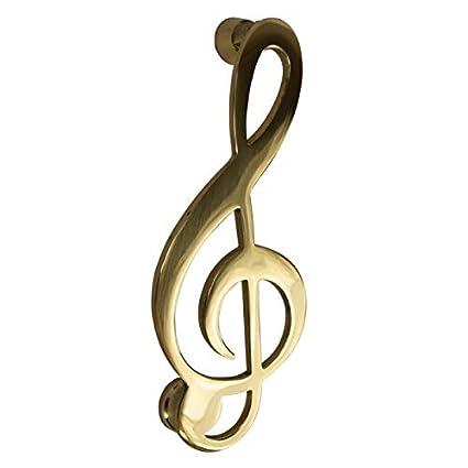 Battente Per Porta In Ottone Disegno Chiave Di Violino Musicale