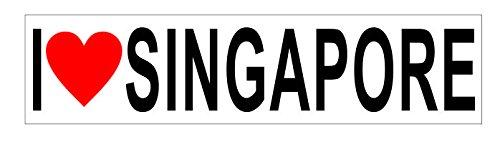 I Love Singapore Vinyl Sticker - Singapore Ford